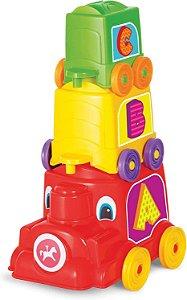 Brinquedo Educativo Locomotiva Animada Calesita