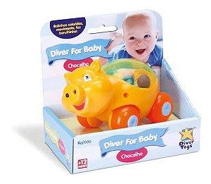 Chocalho For Baby Diver Toys - Porquinho