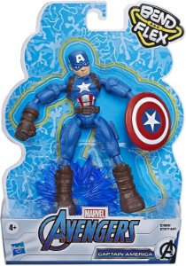 Boneco Articulado -Bend and Flex -Capitão América -Hasbro