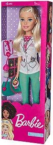 Boneca Barbie Profissões Veterinária 65 Cm Pupee