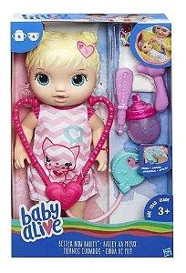 Boneca Baby Alive Cuida De Mim Loira - C2691 - Hasbro