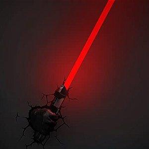 Luminária Sabre Darth Vader, 3D Light FX, Preto