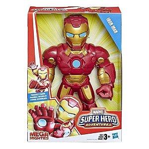Boneco Mega Mighties Super Hero Homem De Ferro Hasbro E4150
