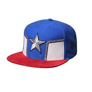 Boné Bordado Capitão América Estrela