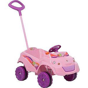Carrinho De Menina Infantil Passeio Bebe Kid Car Rosa