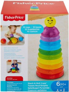 Potinhos Empilhar e Rolar, Fisher Price, Mattel