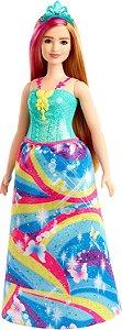 Barbie Dreamtopia - Princesa Loira - Vestido Flores - Mattel