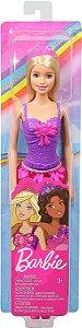 Boneca Barbie Princesa Loira - Vestido Roxo e Rosa - Mattel