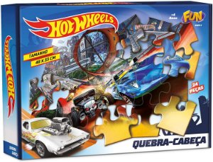 Quebra-Cabeça - 24 Peças - Hot Wheels - Fun