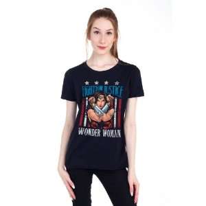 Camiseta Mulher Maravilha Fight For Justice - Piticas BLM