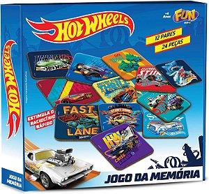 Hot Wheels Jogo da Memória 12 Pares - Fun Divirta-se