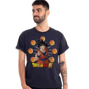 Camiseta Goku Dragon Ball Esferas do Dragão - Piticas GG