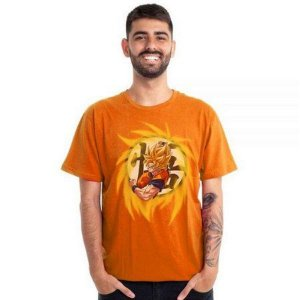 Camiseta Goku Super Sayajin - Laranja - Piticas - GG