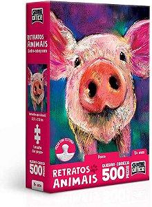 Retratos Animais – Porco – Quebra-cabeça – 500 peças nano