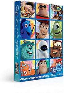 Pixar – quebra-cabeça 100 peças – Metalizado