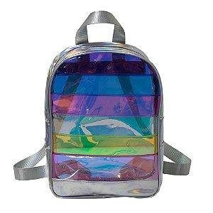 Mochila em Cristal Translúcido e Holográfico DAC Breeze 3367
