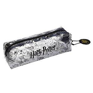 Estojo Escolar Harry Potter em PVC Cristal Transparente 3233