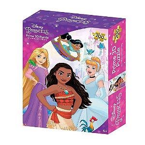 Quebra-Cabeça 3D Princesas Zipper Box 200 Peças Multikids