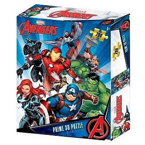 Quebra-Cabeça 3D Os Vingadores Zipper Box 200 Peças Multikids