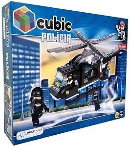 Bloco de Montar Polícia Helicóptero de Combate 219 Peças