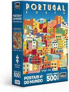 Quebra-Cabeça, Toyster, Postais Mundo, Portugal, 500 Peças