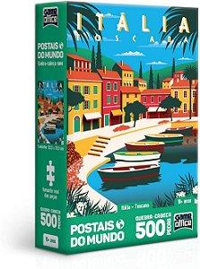 Quebra-Cabeça, Toyster, Postais Mundo, Itália, 500 Peças