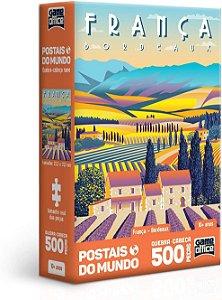 Quebra-Cabeça, Toyster, Postais Mundo, França, 500 Peças