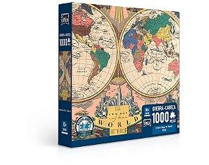 O Novo Mapa do Mundo – 1928 – Quebra-cabeça 1000 peças