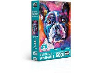 Retratos Animais – Cachorro – Quebra-cabeça – 500 peças nano