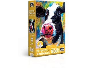 Retratos Animais – Vaca – Quebra-cabeça – 500 peças nano