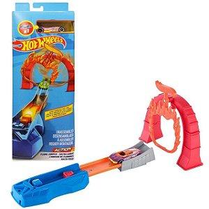 Set de Acrobacias Hot Wheels - Salta Fogo - Mattel