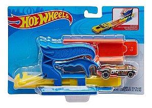 Brinquedo Hot Wheels Lançador com Carrinho Azul Mattel Fth84