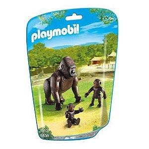 Mini Figuras Playmobil - Animais Zoo - Gorila - Sunny