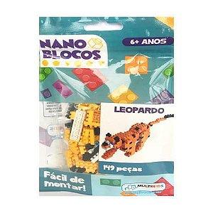 Nano Blocos - Animais Sortidos - Leopardo