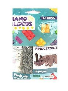 Nano Blocos - Animais Sortidos - Rinoceronte