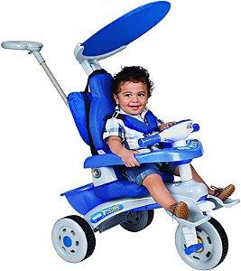Triciclo Super Trike Reclinável 3 Pos. Azul - Magic Toys