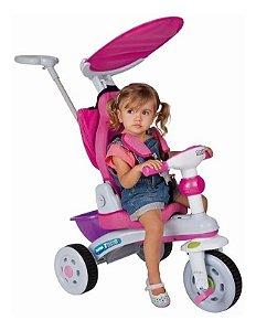 Triciclo Super Trike Reclinável 3 Pos. Rosa - Magic Toys
