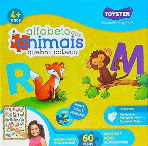 Quebra Cabeça Quadrado 60 Peças Alfabeto dos Animais Toyster