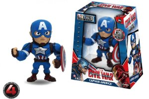 "METALS FIGURE 4"" MARVEL CIVIL WAR MOVIE-CAPTAIN AMERICA"