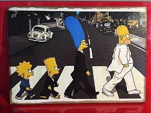 Quadro 30x20cm - Simpsons Beatles