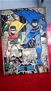 Quadro 30x20cm - Batman e Robin