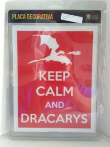 Placa Decorativa Keep Calm Dracarys