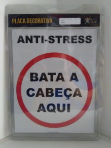 Placa Decorativa Anti-Stress