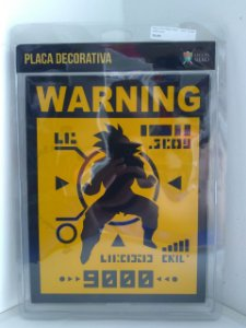 Placa Decorativa Over 9000 (V2)