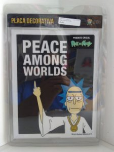 Placa Decorativa Peace Among Worlds