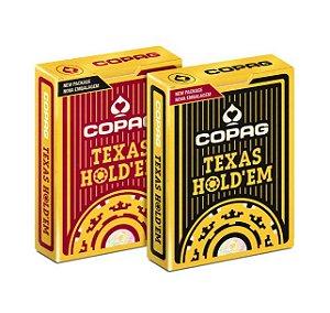 Baralho 100 Plástico Texas Holdem Preto