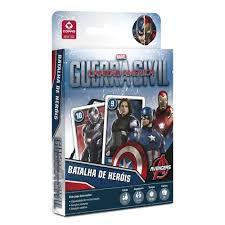 Jogo Batalha de Heróis Capitão América Guerra Civil - Copag