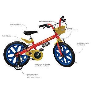 Bicicleta 16 Mulher Maravilha - Bandeirante