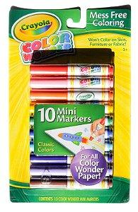 Crayola Marcadores de Maravilha, Coloração Sem Malha, 10 unidades, Presente para crianças, Idade 3, 4, 5, 6