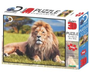 Quebra Cabeça Super 3D Modelo Leão com 500 Peças Multikids - BR1061